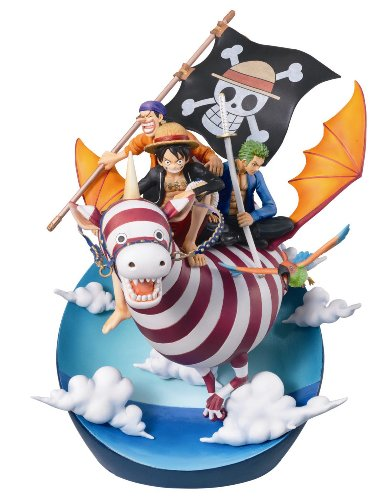 Image 1 for One Piece - Monkey D. Luffy - Roronoa Zoro - Usopp - Desktop Real McCoy (MegaHouse)