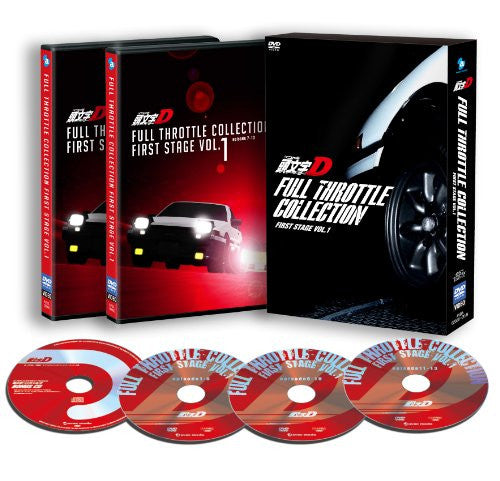 Image 1 for Initial D Full Throttle Collection - First Stage Vol.1 [3DVD+CD]