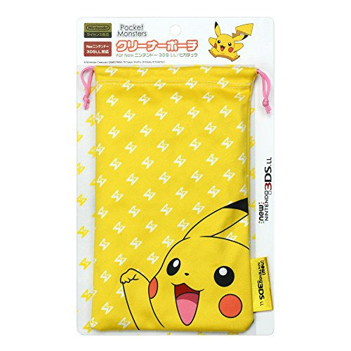 Image 1 for Pokemon Cleaner Pouch for New 3DS LL (Pikachu)