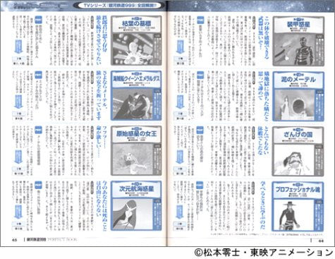 Image 3 for Galaxy Express 999 Tv Anime All 113 Story + Sp 3 Story Analytics Art Book