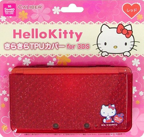 Image 1 for Hello Kitty Kirakira TPU Cover for 3DS (Red)