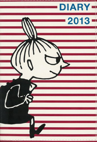 Image 1 for Moomin Diary 2013 Cover Design By Nimes Little My X Red Border Book