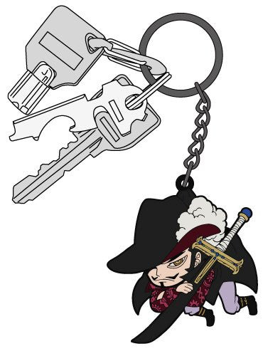 Image 3 for One Piece - Juracule Mihawk - Keyholder - Rubber Strap - Tsumamare (Cospa)