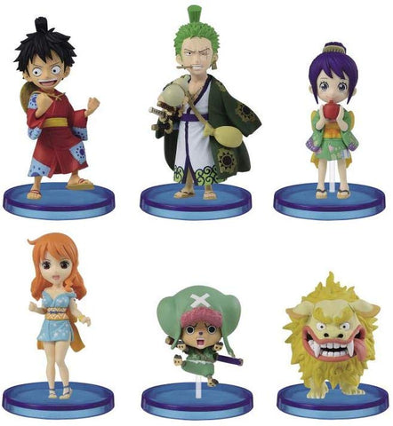 One Piece - Luffy - Zoro - Tama - Nami - Chopper - Komachiyo - World Collectable Figure Wano Kuni 1 (Bandai Spirits)