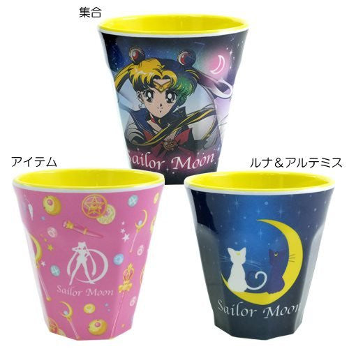 Image 2 for Bishoujo Senshi Sailor Moon - Artemis - Luna - Sailor Jupiter - Sailor Mars - Sailor Mercury - Sailor Moon - Sailor Venus - Melamine Cup - Luna & Artemis ML (Hasepro)