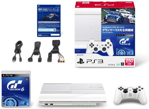 Image 2 for PlayStation3 New Slim Console - Starter Pack with Gran Turismo 6 (Classic White)