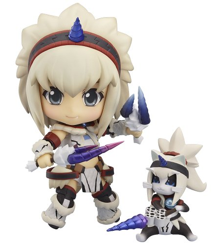 Image 1 for Monster Hunter 4 - Airou - Hunter - Nendoroid #377 - Kirin Armor ver., Full Action (Good Smile Company)