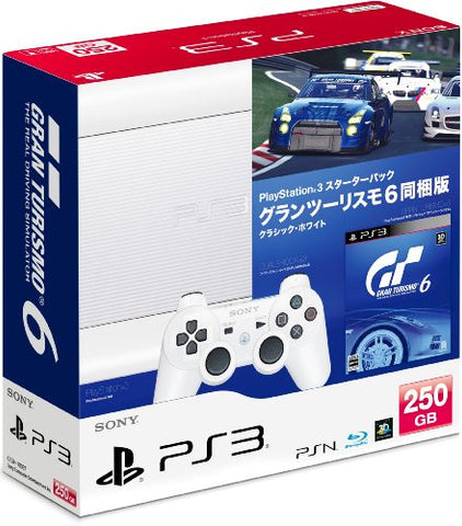 PlayStation3 New Slim Console - Starter Pack with Gran Turismo 6 (Classic White)