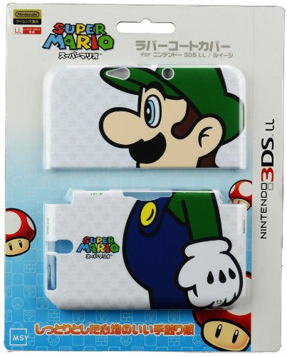 Image 1 for Rubber Coat Cover for 3DS LL (Luigi)