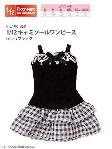 Doll Clothes - Picconeemo Costume - Camisole Dress - 1/12 - Black (Azone)