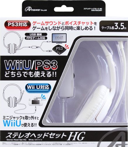 Image 1 for Answer Stereo Headset HG (White)
