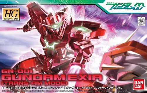 Image 3 for Kidou Senshi Gundam 00 - GN-001 Gundam Exia - HG00 #31 - 1/144 - Trans-Am Mode, Gloss Injection Ver. (Bandai)