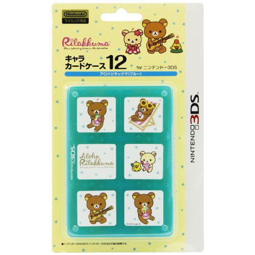 Image 1 for Character Card Case 12 for 3DS Rilakkuma Aloha (Blue)