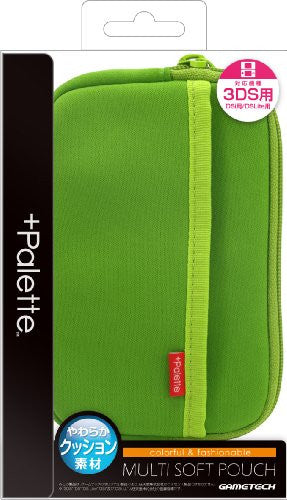 Image 1 for Palette Multi Soft Pouch for 3DS (Lime Green)
