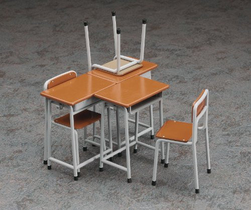 Image 3 for 1/12 Posable Figure Accessory - School Desks and Chairs - 1/12 (Hasegawa)