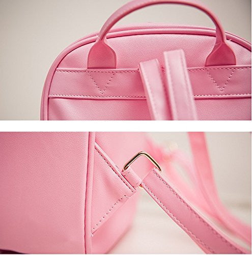 Image 5 for Ita Bag - Clear Heart Backpack - Akssweet - Pink