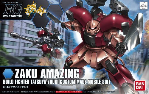 Image 2 for Gundam Build Fighters - MS-06R-AB Zaku Amazing - HGBF #002 - 1/144 (Bandai)