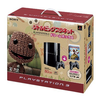 Image 2 for PlayStation3 Console (HDD 80GB LittleBigPlanet Dream Box) - Clear Black