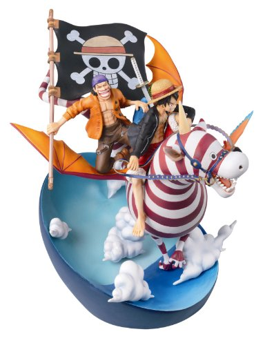 Image 2 for One Piece - Monkey D. Luffy - Roronoa Zoro - Usopp - Desktop Real McCoy (MegaHouse)