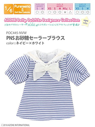 Doll Clothes - Pureneemo Original Costume - PureNeemo S Size Costume - Osatou Sailor Blouse - 1/6 - Navy x White (Azone)