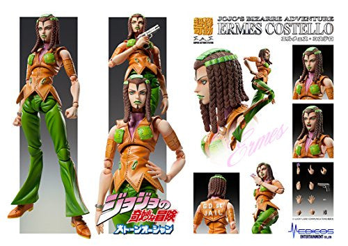 Image 2 for Jojo no Kimyou na Bouken - Stone Ocean - Hermes Costello - Super Action Statue #73 (Medicos Entertainment)