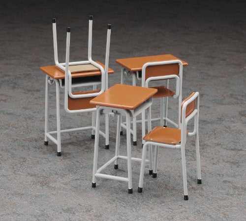Image 2 for 1/12 Posable Figure Accessory - School Desks and Chairs - 1/12 (Hasegawa)