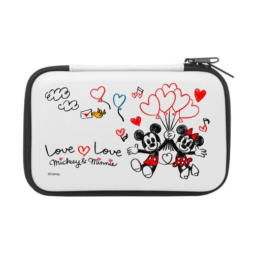 Image 1 for Disney Character Hard Pouch for 3DS LL (Micky & Minnie Version)