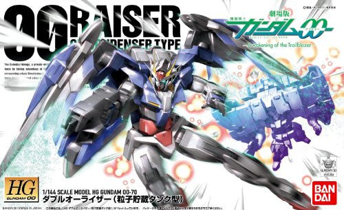 Image 4 for Gekijouban Kidou Senshi Gundam 00: A Wakening of the Trailblazer - GN-0000RE + GNR-010 00 Raiser GN Condenser Type - HG00 #70 - 1/144 (Bandai)