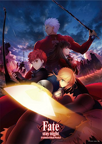 Image 1 for Fate/Stay Night Unlimited Blade Works - Emiya Shirou - Saber - Tohsaka Rin - Archer - Clear Poster (Broccoli)