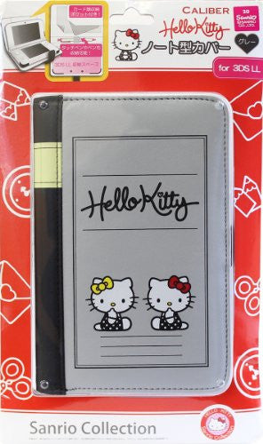 Image 1 for Hello Kitty Note Cover for 3DS LL (Gray)