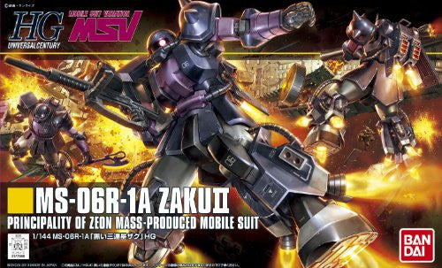 Image 6 for Kidou Senshi Gundam - MS-06R-1A Zaku II High Mobility Type - HGUC #151 - 1/144 - Black Tri-Stars Version (Bandai)