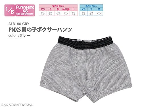Doll Clothes - Pureneemo Original Costume - PureNeemo XS Size Costume - Boys Boxer Briefs - 1/6 - Gray (Azone)