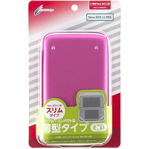 Image 1 for Semi Hard Case Slim for New 3DS LL (Pink)