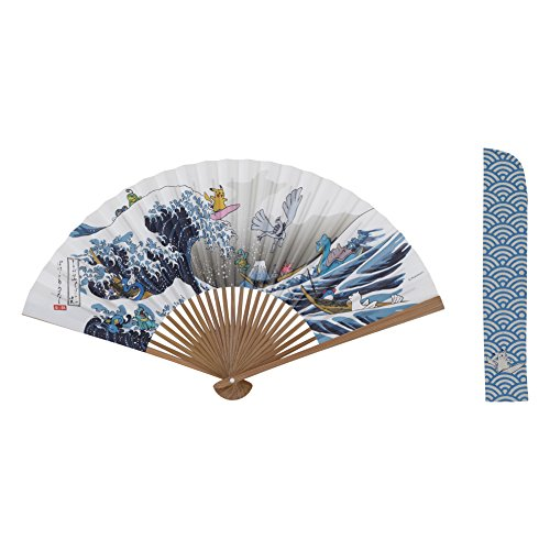 Image 1 for Pocket Monsters Gin - Pocket Monsters Kin - Hakuryu - Jugon - Laplace - Lugia - Maril - Miniryu - Nyoromo - Nyorotono - Pikachu - Sunngyo - Tattu - Waninoko - Zenigame - Japanese Style Promotion - Folding Fan