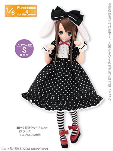 Doll Clothes - Pureneemo Original Costume - PureNeemo S Size Costume - Clock Usagi-san Set - 1/6 (Azone)