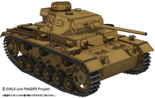 Girls und Panzer - Panzer III Ausf.J - 1/35 - Kuromorimine Girls High School Ver. (Platz)