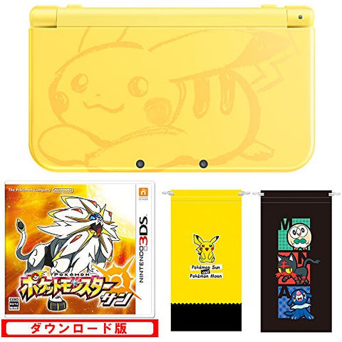 New Nintendo 3DS LL Pikachu Yellow - Pokemon Sun Set (incl. Pouch)