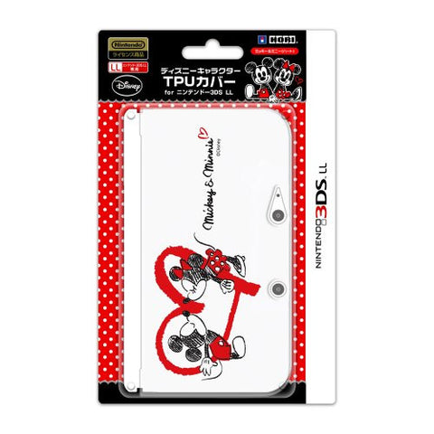 Image for Disney Character TPU Cover for 3DS LL (Micky & Minnie Heart Version)