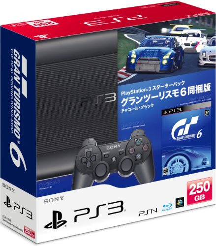Image 1 for PlayStation3 New Slim Console - Starter Pack with Gran Turismo 6 (Charcoal Black)