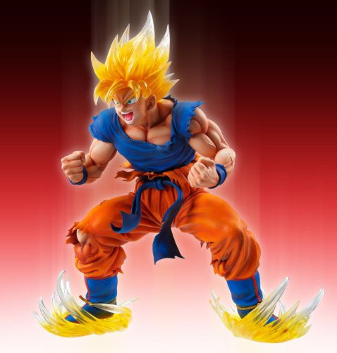 Image 5 for Dragon Ball Kai - Son Goku SSJ - Super Figure Art Collection - 1/8 - Ver. 2 Clear Hair Ver. (Medicos Entertainment)