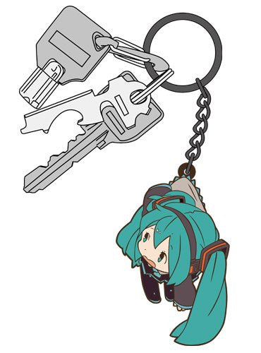 Image 3 for Vocaloid - Hatsune Miku - Tsumamare - Rubber Keychain - Keyholder (Cospa)