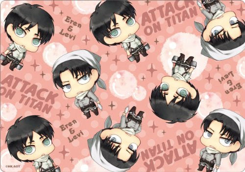 Image 1 for Shingeki no Kyojin - Levi - Eren Yeager - Mousepad - Cleaning ver. (Gift)