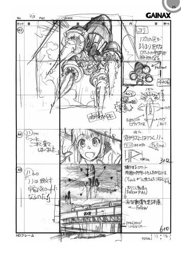 Diebuster Aim For The Top 2 Storyboard Collection Book