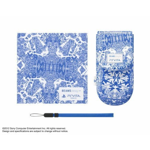 Image 1 for BEAMSdesign PS Vita Pouch Clothing & Pouch Set (Impact Blue)