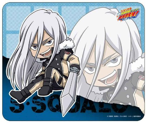 Image 1 for Katekyou Hitman REBORN! - Superbia Squalo - 3D Mousepad - Mousepad - Ten Years After Varia (Broccoli)