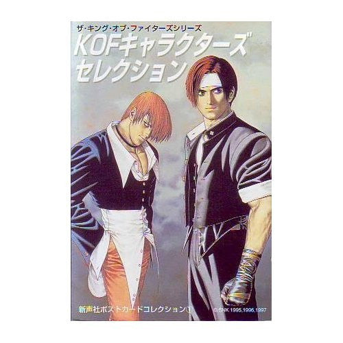 Kof Character's Section King Of Fighters Series Illustration Postcard Book
