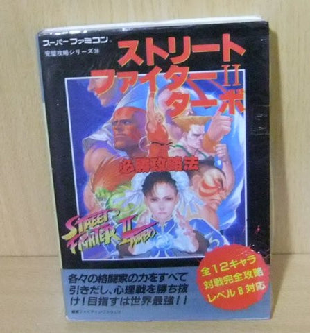 Street Fighter 2 Turbo Victory Strategy Book / Snes