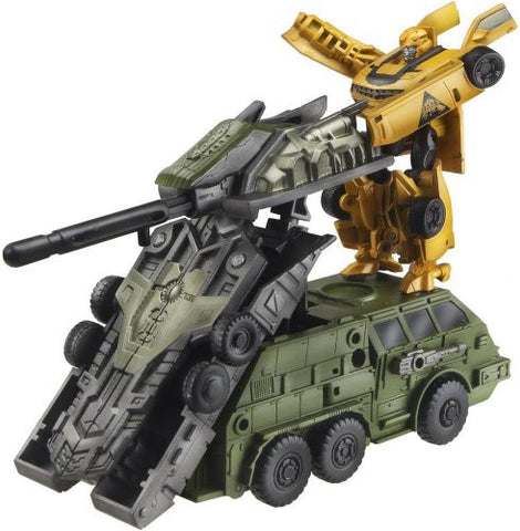 Transformers Darkside Moon - Bumble - Cyberverse - CV02 - Bumblebee & Mobile Battle Bunker (Takara Tomy)