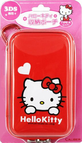 Image 1 for Hello Kitty Pouch for 3DS (Type A Red)