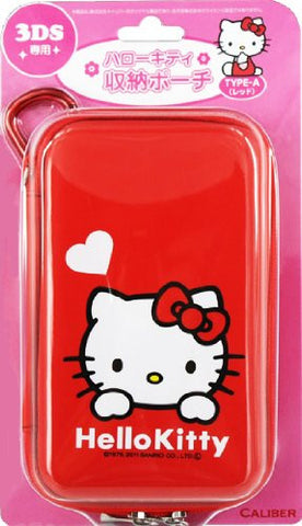 Hello Kitty Pouch for 3DS (Type A Red)